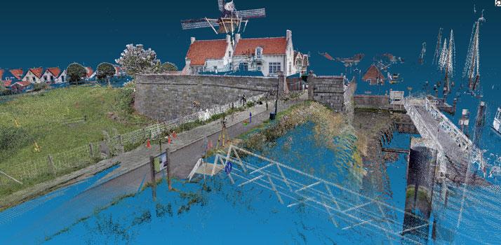 3D scan kade muur Blauwe Bolwerk Zierikzee