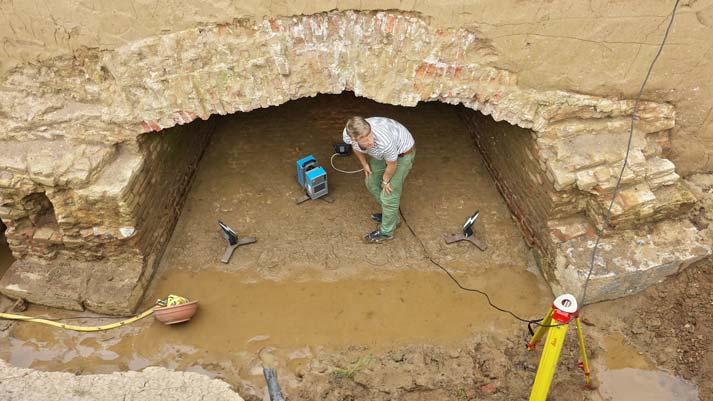 3D scan archeologische opgraving Raventstein