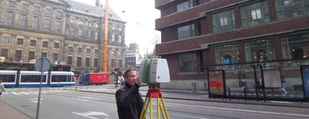 3d scanning Amsterdam Spuistraat met Leica C10