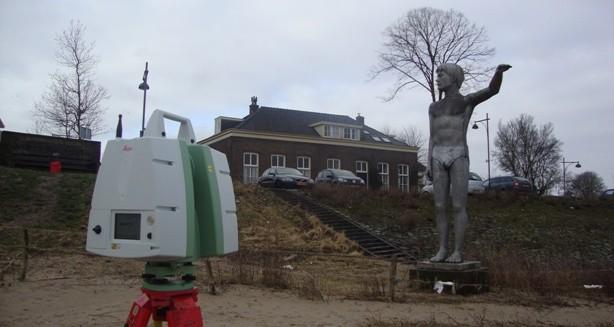 3d Laserscan beeld strand Zaltbommel
