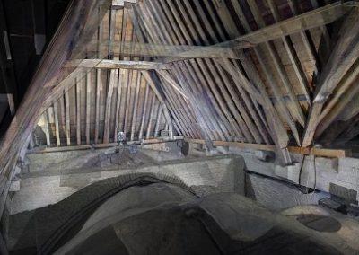 3d laserscan Grote Kerk Alkmaar voor bouwhistoricus