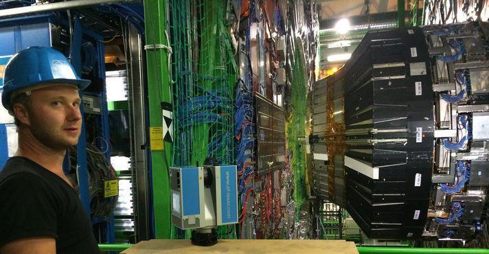 Laser scanning in CERN voor film Symmetry