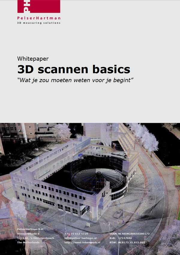 Voorkant whitepaper 3D scannen basics door PelserHartman