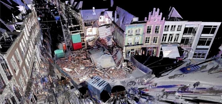 3D scan ingestort pand markt Den Bosch