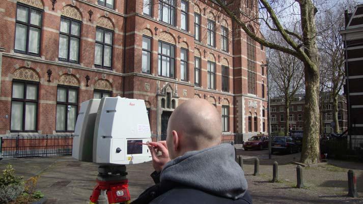 3D scanner bouwkundig ingenieur