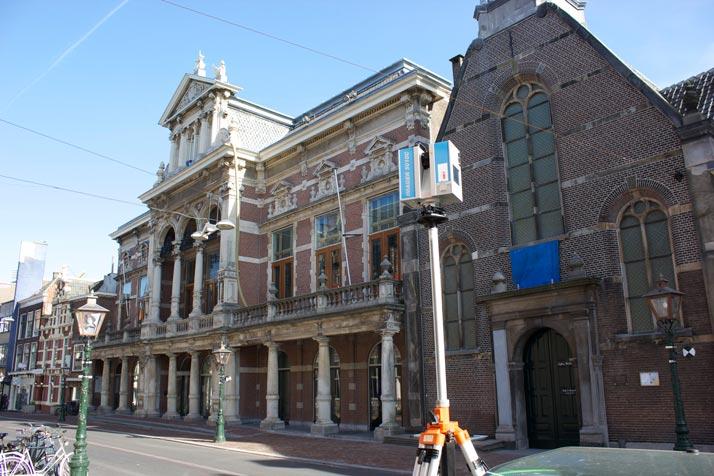 3D scanner Aalmarkt Leiden