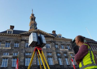 3D scannen en orthofoto's gevel stadhuis Den Bosch