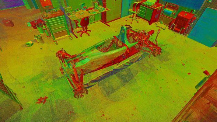 3D scannen snelste elektrische raceauto