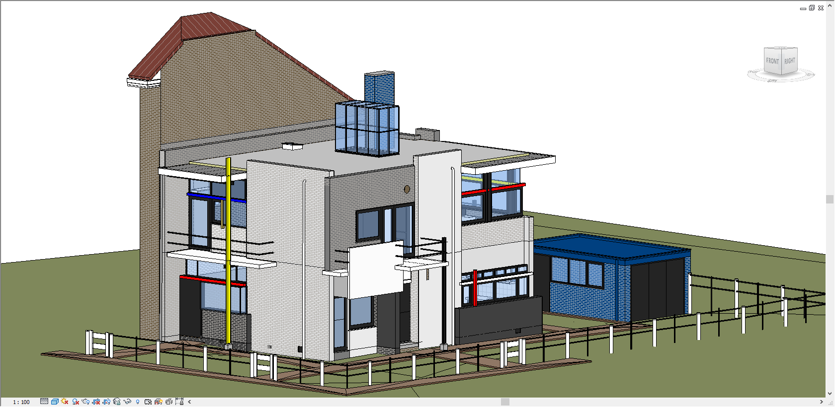 3D model Rietveld Schröderhuis