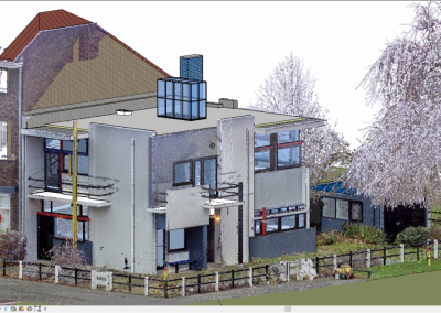 3D modelleren Rietveld Schröderhuis