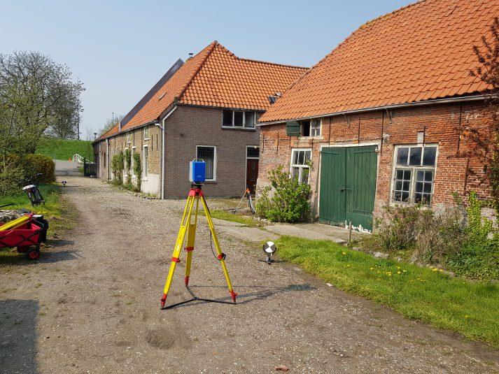 3D scan zomerhuis voor bouwhistorisch onderzoek