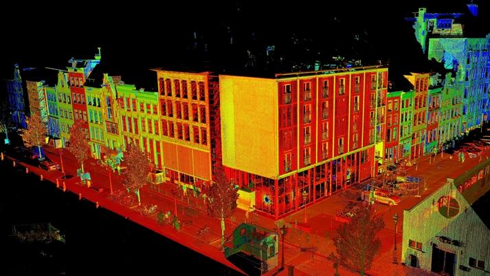 pointcloud 3d scannen Anne Frank Huis