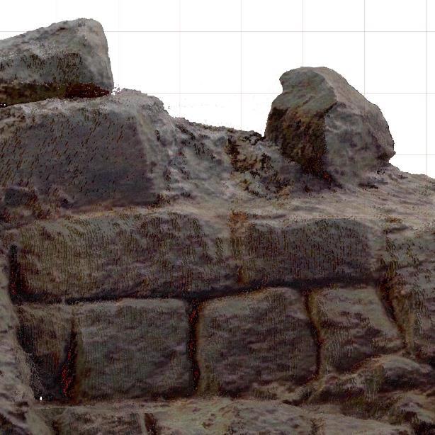 Detail orthofoto  archeologie
