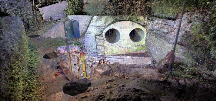 3D scannen opgraving Fort Sanderbout Sittard