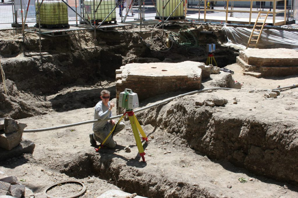 3D scannen archeologie Domplein Utrecht