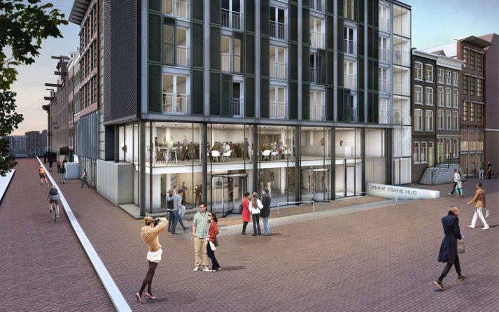 nieuw ontwerp entreegebied Anne Frank Huis