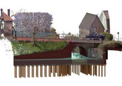 REVIT-model van 3D laserscan voor restauratie monumentale bruggen