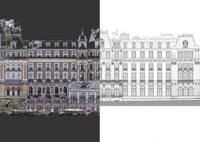 3D scannen voor restauratie Amstel Hotel