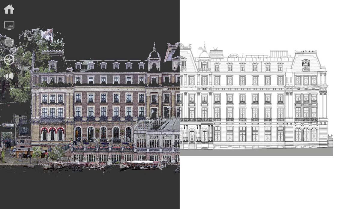 3D scan voor restauratie Amstelhotel