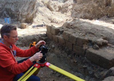Orthofoto archeologie Domplein Utrecht
