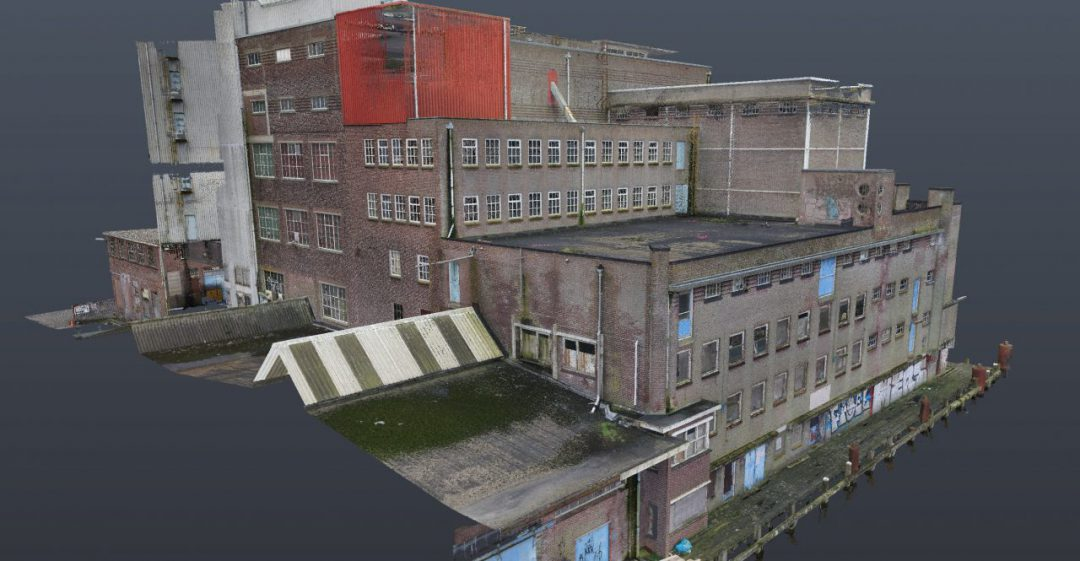 pointcloud 3D scannen veevoederfabriek Brokking