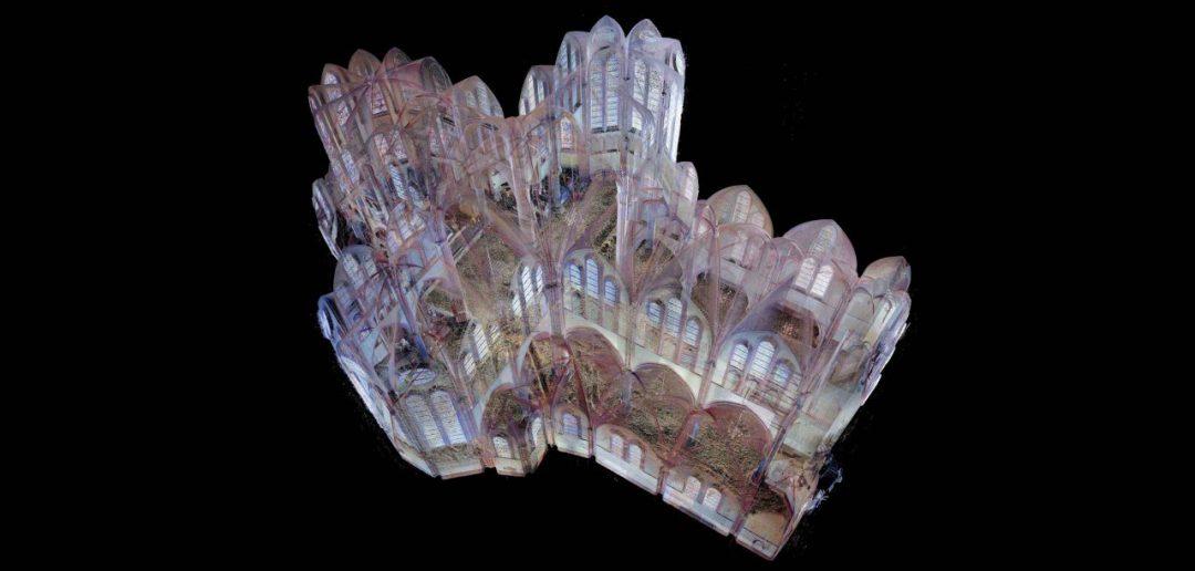 pointcloud 3D scan heilig hart kerk