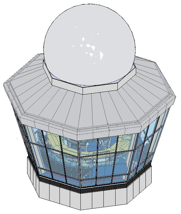 3D model verkeerstoren Schiphol