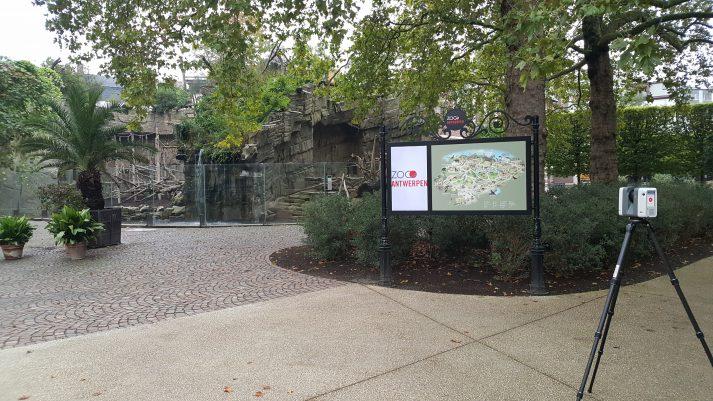 3D scannen Zoo Antwerpen voor restauratie erfgoed