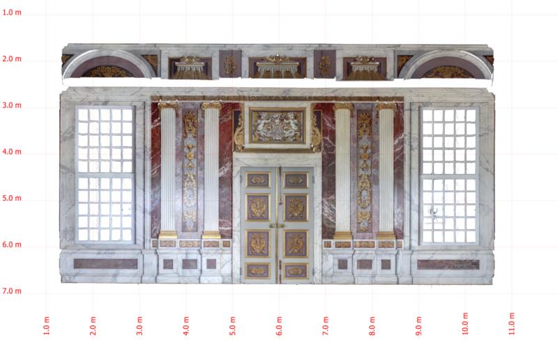 Deze afbeelding toont een orthofoto van een stijlkamer van Museum Paleis het Loo
