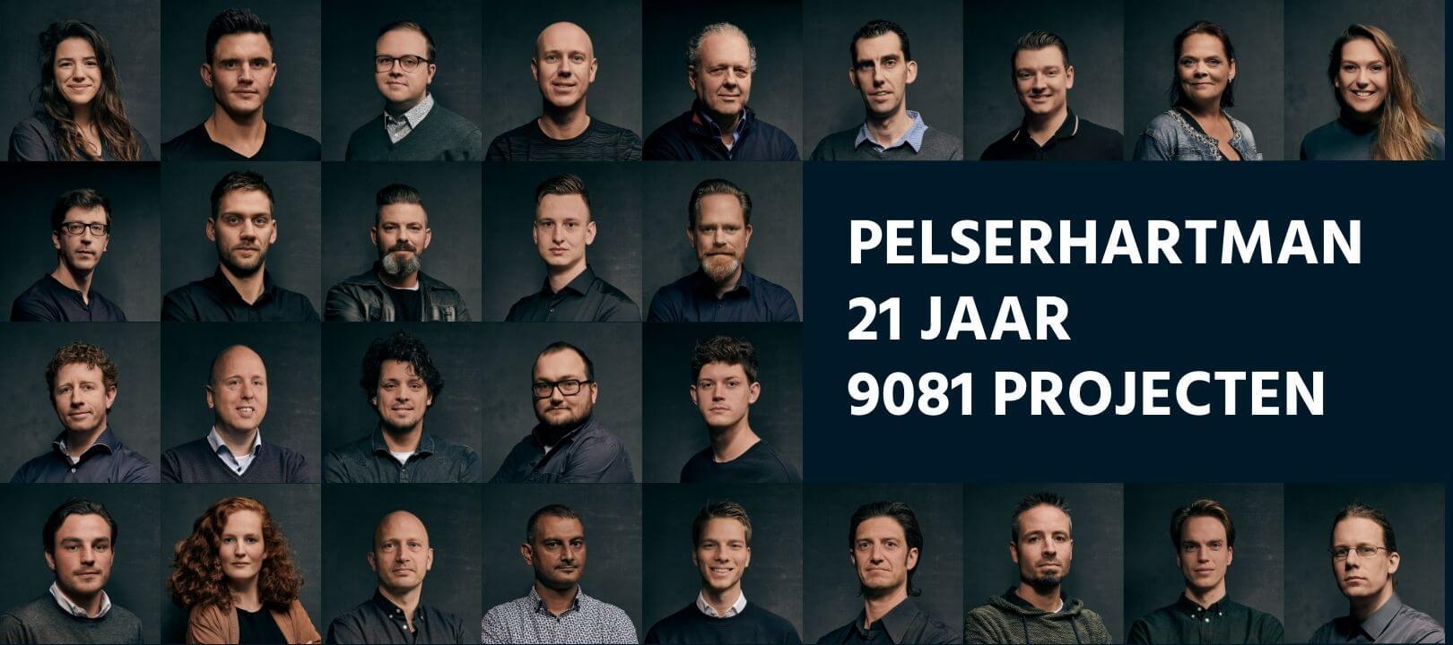 Team van PelserHartman, 21 jaar, 9081 projecten