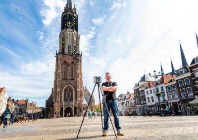 PelserHartman meet de Nieuwe Kerk van Delft in ter voorbereiding op uitbreiding Koninklijke grafkelders