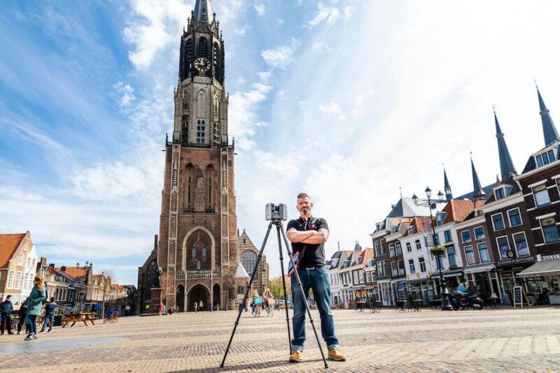3D inmeten Nieuwe Kerk in Delft ter voorbereiding van de uitbreiding van de Koninklijke grafkelders